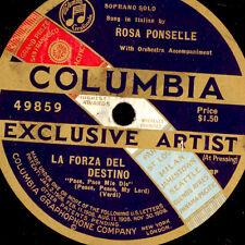 """Rosa Ponselle """"LA FORZA DEL DESTINO"""" PACE, Pace Mio Dio 1 FACES 78 tr/min g3048"""