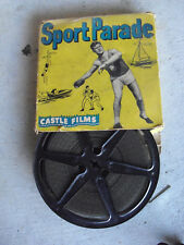 Vintage 1950s 16mm Movie Reel Castle Films Boxing Zale vs Graziano 348