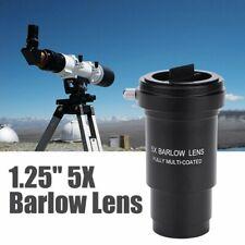 "Aluminum Multi-coated 1.25"" 5X Barlow Lens M42 Thread for 31.7mm Eyepiece Hot"