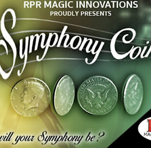 Symphony Coins (US Quarter) Gimmicks and Online Instructions by RPR Magic Innova