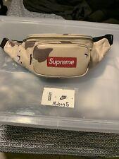 Supreme Leather Waist Bag Desert Camo SS17 Official Fanny Pack BOGO Shoulder