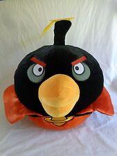 """ANGRY BIRDS Large Plush 21"""" Black Bomb Space Saturn Rings Rovio 2012"""
