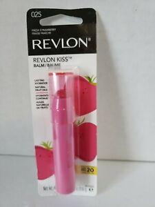 Revlon Kiss Balm 025 (Fresh Strawberry) SPF20 Broad Spectrum NEW