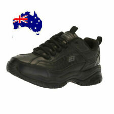 Skechers WIDE comfortable & Memory Foam Men's boots Slip Resistant SOFT Toe Shoe