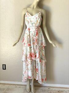 Karen Millen Chiffon Floral Belted Dress