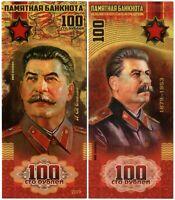 100 rubles 2019, Joseph Stalin, Souvenir polymer banknote, UNC