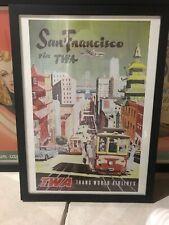 Vintage Retro TWA San Francisco framed Print