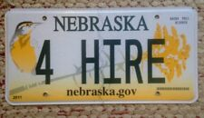 NEBRASKA VANITY PERSONALIZED LICENSE PLATE 4 HIRE FOR RENT SERVICES TAXI LIMO