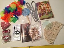 Junk Drawer contents lei craft items lanyards  book doily necklace and more