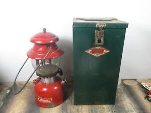 COLEMAN LANTERN 200 RED  W / CASE   DATED 5 - 66  NO RESERVE