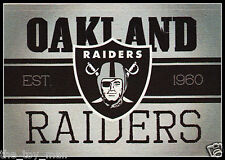 OAKLAND RAIDERS FOOTBALL NFL LICENSED VINTAGE TEAM LOGO INDOOR DECAL STICKER