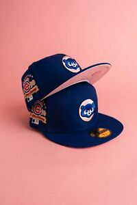 """Chicago Cubs """"City Pink"""" 1990 All Star Game Patch Pink UV Hat 7 1/2"""