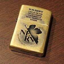 Zippo Evangelion U.N. NERV Japanese Anime Manga figure movie Used Design F/S