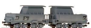 Liliput - HO/H0 - L230991 - Auxillary Tank Wagon (Double Unit) - DB, Grey Livery
