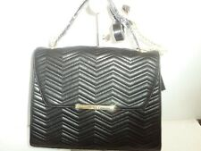 Tahari Flap Quilted Pattern Tote/Shoulder Bag,Black