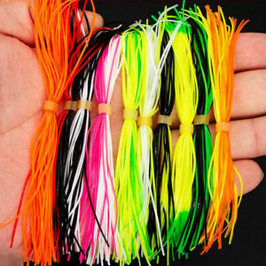 Mixed Color Silicone Skirts for Spinnerbait Rubber Jig Lures Squid Skirts