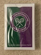 New Sealed In Plastic Official Wimbledon Tennis Deck Playing Cards Case Box