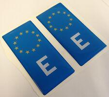 2x Spanish Spain E Euro Gel 3D Number Plate Side Badge Badges for METAL PLATES