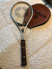 Vintage Spalding Targa Tennis Racquet Leather Handle 4L Aluminum Alloy Frame