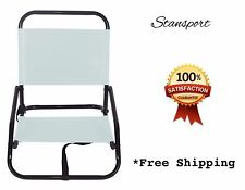 Outdoor Beach Chair Folding Lawn Concert Lake Camping Chairs w/ Shoulder Strap