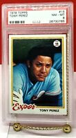 Tony Perez 1978 Topps #15 PSA 8, Inducted Hall of Fame 2000