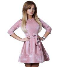 Fashion Women's Velvet Bodycon Long Sleeve Evening Party Cocktail Mini Dress
