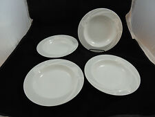 """Set of 4 Mikasa Fine China Classic Flair Gray Rimmed Soup Bowl 9"""""""