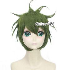Anime Danganronpa Trigger Happy Havoc V3 Amami Rantarou Men Green Cosplay Wig