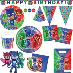 Pj Masks Pyjamahelden Children's Birthday Party Birthday Motto Party Items Set