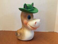 Vintage Binky vinyl squeeze squeak baby toy horse cowboy hat NIP NOS 1970's