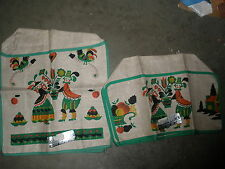 NEW NOS vintage kitchen appliance cover lot of 2 different sizes Dutch roosters
