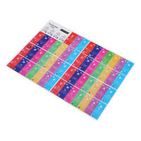 Colors Piano Stickers Keys Removable Coating for 49 / 61 / 76 / 88 Keyboards CO