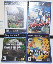 PS2 LOTTO 4 GIOCHI GOGOGOLF VOLLEYBALL CH BM BOWLING OUTLAW GOLF 2 - GAMES NUOVI