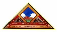 Santa Fe Brewing SANTA FE NUT BROWN ALE paper beer label NM 12oz No wings, no GW