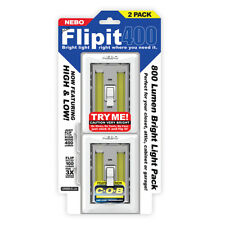 Nebo Just Flipit 400 Lumen (800 Lumen Bright Light Pack) 2 Pack Lights #6699