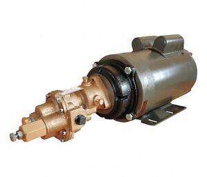 "Dayton 4KHD3 1 HP Rotary Gear Pump 115/230V Single Phase 125 psi 3/8"" Port"