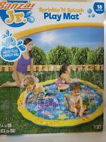 Banzai Jr Sprinkle n Splash Outdoor Water Play Mat Kids Fun Games SUMMER SALE