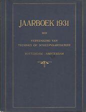 JAARBOEK 1931 VEREENIGING TECHNICI SCHEEPVAARTGEBIED