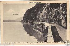 73 - cpa - Le lac du Bourget et la route de la Corniche de Brison St Innocent