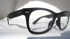 New RayBan Black Wayfarer RB 2140 Clear Eyeglasses Glasses ITALY Authentic