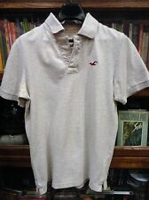 HOLLISTER MENS POLO SHIRT M BEIGE Pre-Owned