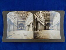 STEREOVIEW - H.C. WHITE CO - 1650 ST PAUL CHURCH ITALY - TOP !