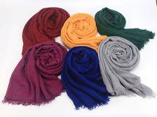 Ladies Premium Viscose Maxi Crinkle Cloud Hijab Scarf Shawl Islam Muslim Scarves