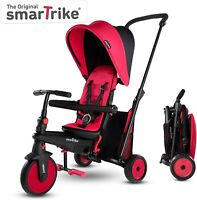 SmarTrike STR 3 Plus Kids 6 in 1 Compact Folding Stroller Trike Red NEW
