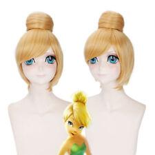 Disney Princess Tinker Bell Bun Cosplay Anime party Hair Wig heat resistan EZ197