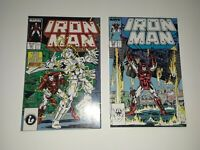 Iron Man 221 222 2 book lot 2nd Ghost Ant-man and Wasp