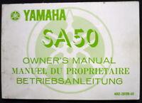 YAMAHA SA50 MOTORCYCLE HANDBOOK/MANUAL 1980 #4M2-28199-80