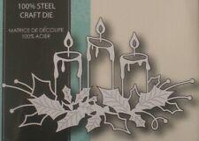 Memory Box Glowing Candles Christmas Cutting Die Silver de neu @ff