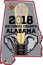 Alabama Crimson Tide Football 2018 National Champions 5 '' Vinyl Stickers Decal