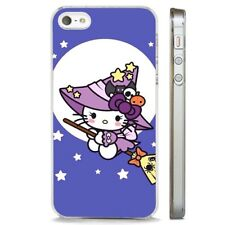 Hello Kitty Kitten Cute Witch CLEAR PHONE CASE COVER fits iPHONE 5 6 7 8 X
